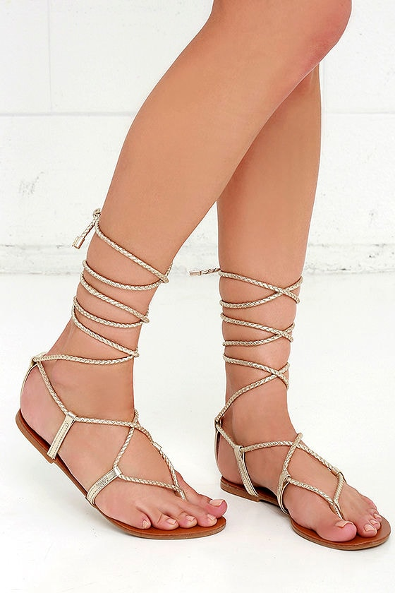Steve Madden Metallic Leather Sandals sale from china clearance cheap sale new styles shopping online sale online aGEpGOpxAr