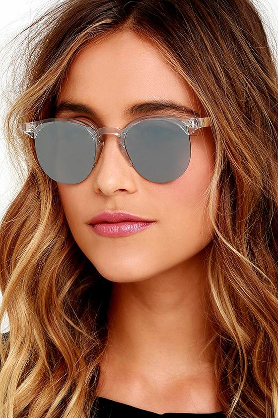 Spitfire Astro Sunglasses - Clear Sunglasses - Silver Mirrored ...