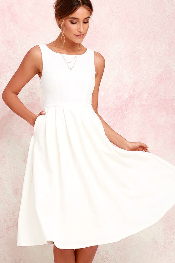 Ivory Dress Midi Dress Tulle Dress White Dress 7900