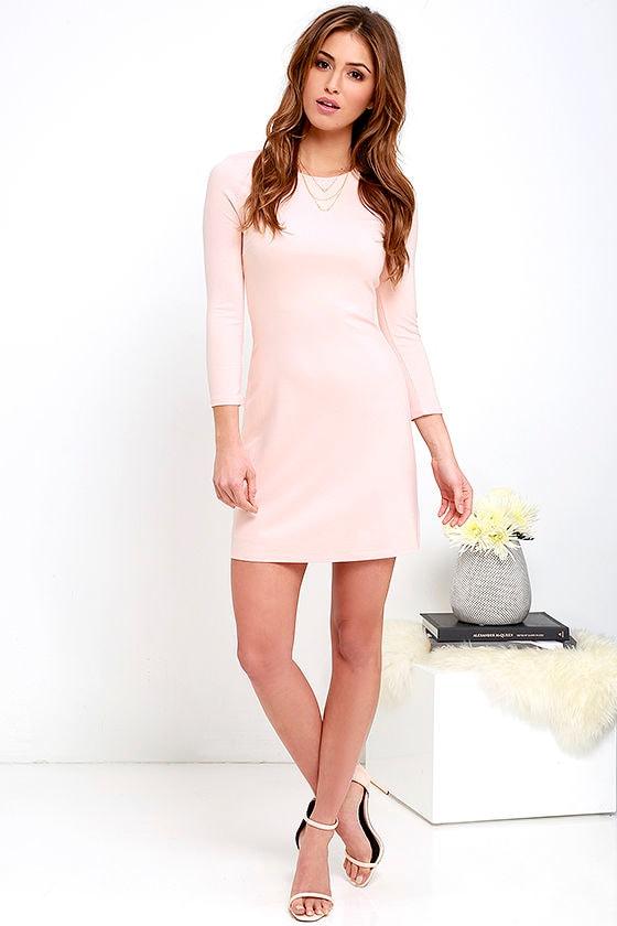 Light pink long dress
