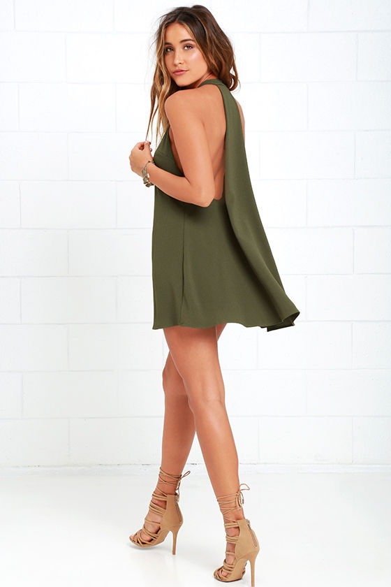 Sexy olive green dresses