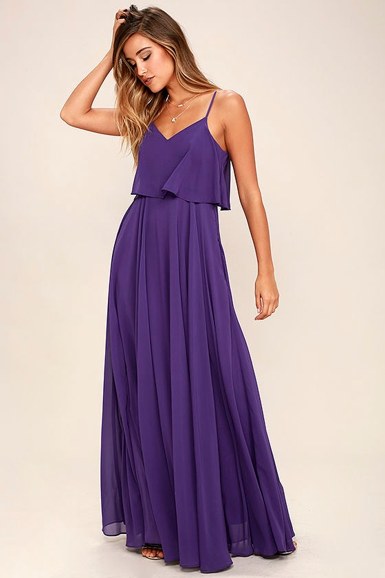 Stunning Purple Dress - Maxi Dress - Gown - $78.00