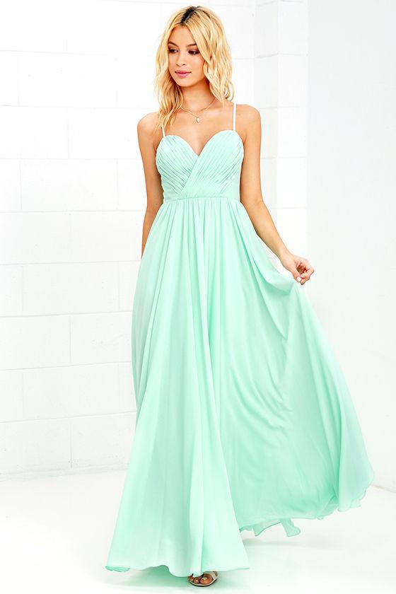 Mint Green Dress - Maxi Dress - Long Gown - $88.00