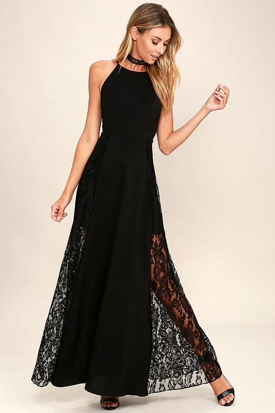Lovely Black Maxi Dress - Lace Maxi Dress - Black Lace Dress - $79.00
