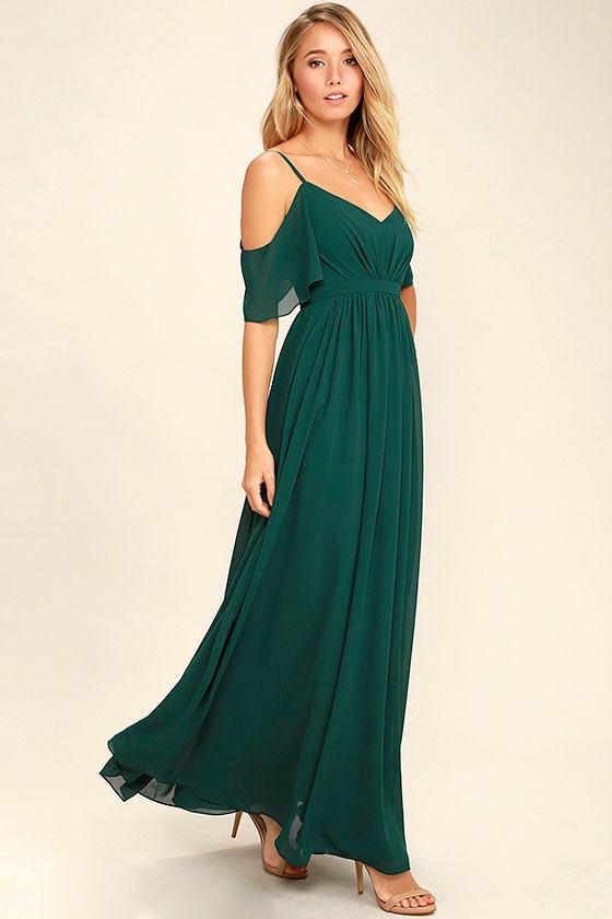 Stunning Maxi Dress - Gown - Dark Green Dress - Formal Dress - $84.00