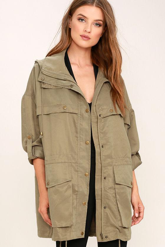 cute olive green jacket  oversized jacket  hooded jacket