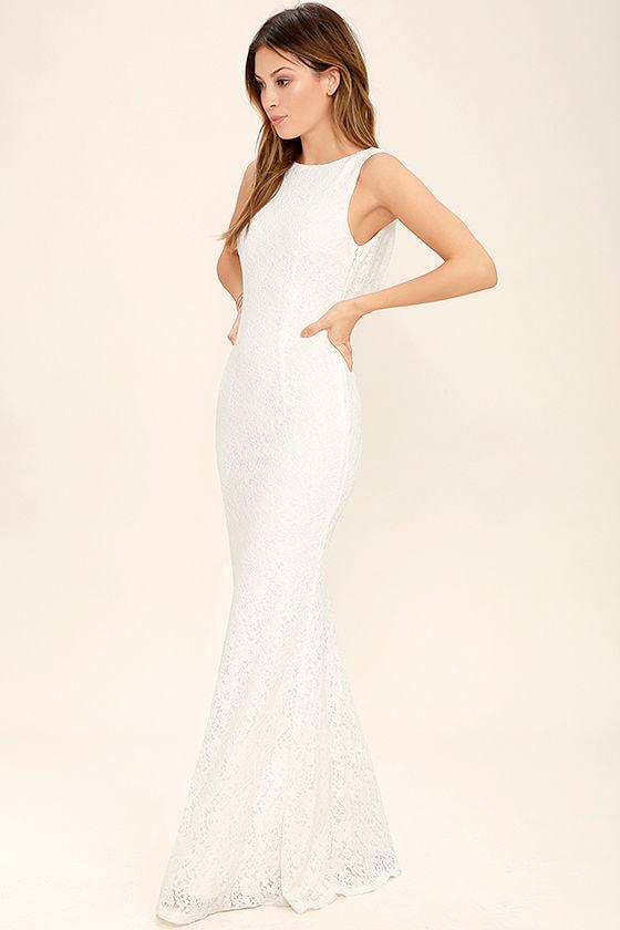 Lovely Ivory Dress - Maxi Dress - Lace Dress - $89.00