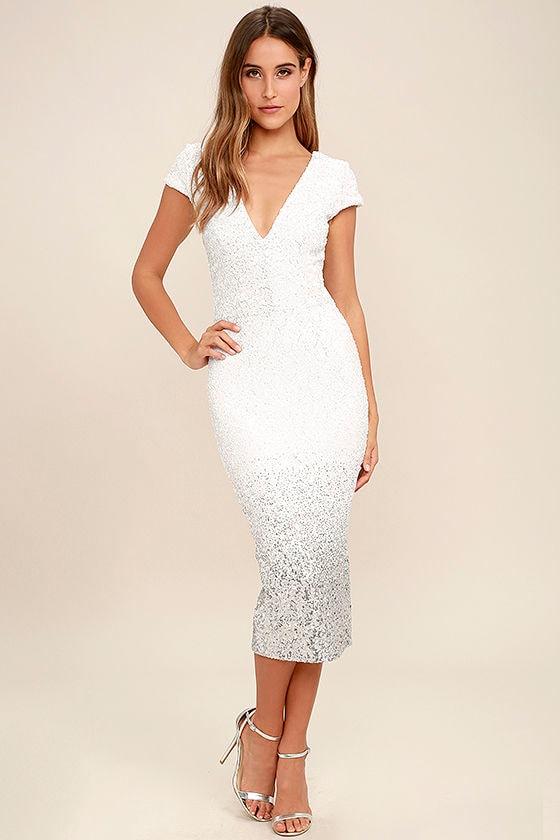Dress the population cece white sequin dress ombre sequin dress dress the population cece white ombre sequin midi dress mightylinksfo