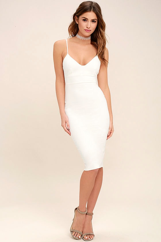 Sexy all white dresses