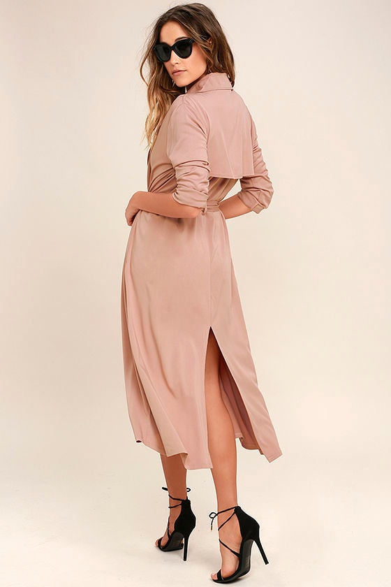 Cool Blush Pink Coat Trench Coat Belted Coat 82 00