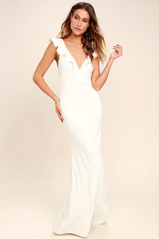Lovely White Dress - Maxi Dress - Mermaid Maxi - Gown - $98.00