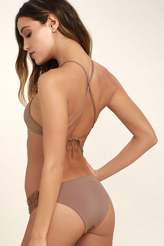 Dolce Vita Macrame Bottom - Mauve Bikini Bottom