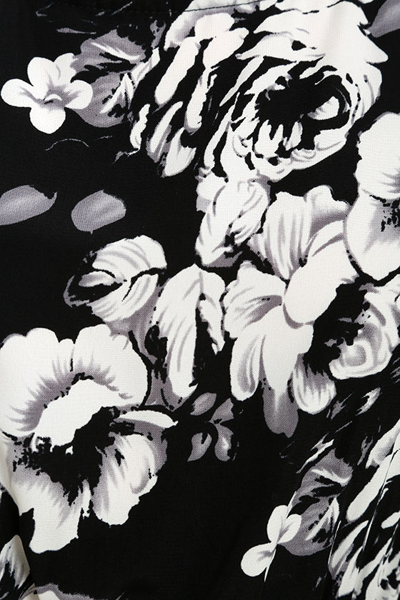 Chic black and white jumpsuit floral print jumpsuit midi lush life black and white floral print midi jumpsuit mightylinksfo