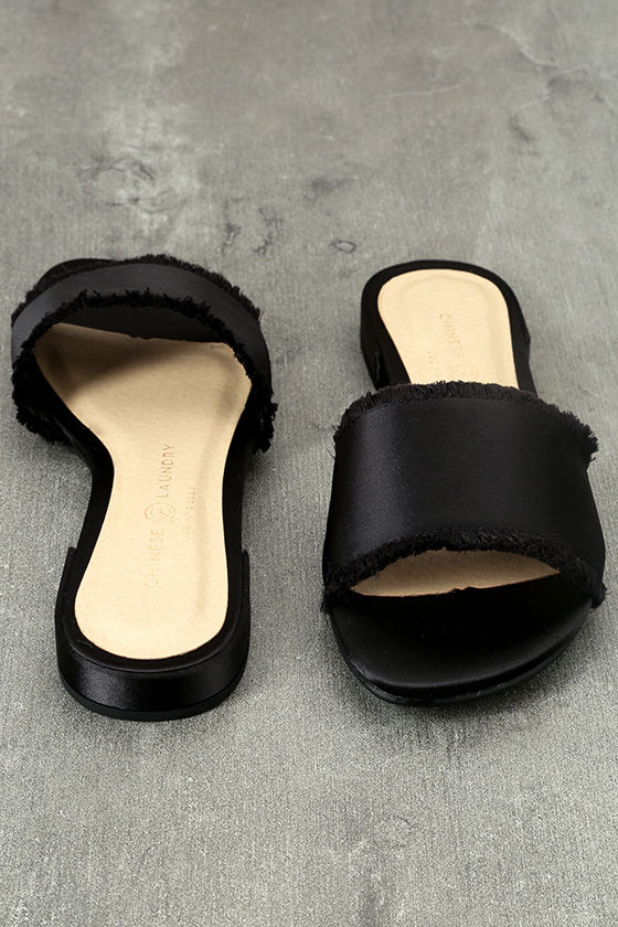 sale the cheapest Chinese Laundry Satin Slide Sandals 2014 new for sale latest for sale clearance free shipping cheap low shipping fee yuqGh3