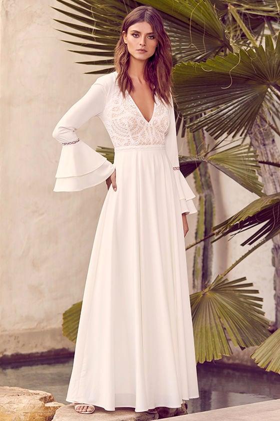 Lace Wedding Dresses Amp Gowns White Bridal Dresses Lulus
