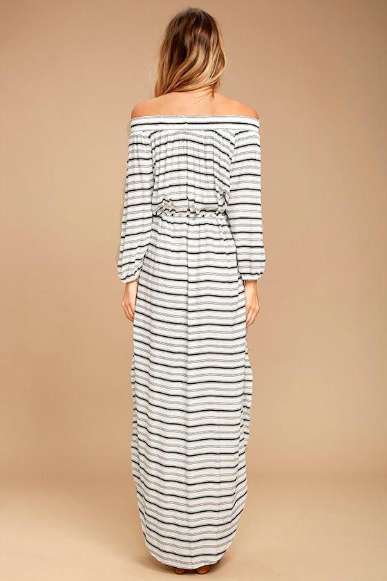 Faithfull The Brand Rae Black And White Striped Dress