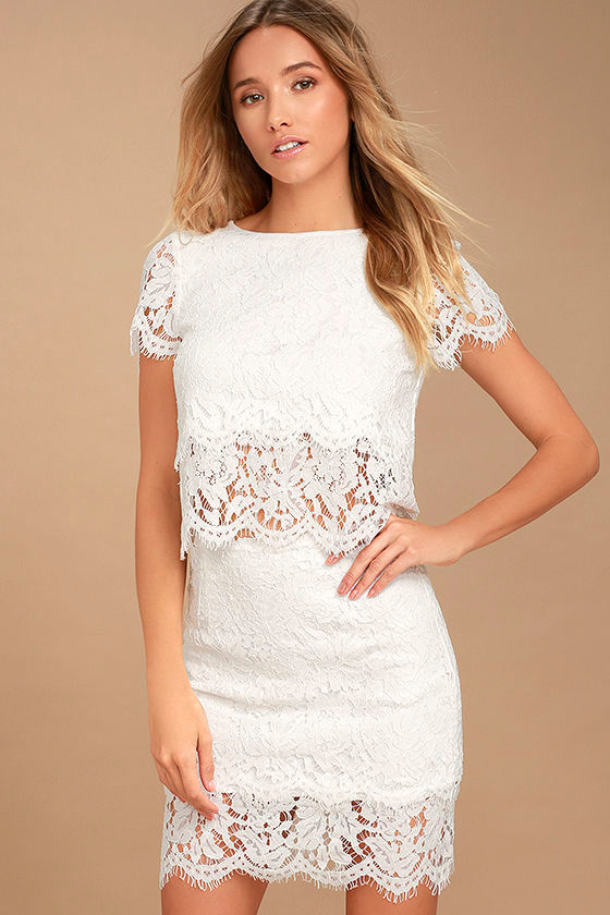 0320efb540a3 White Lace Skirt | Skirt Direct