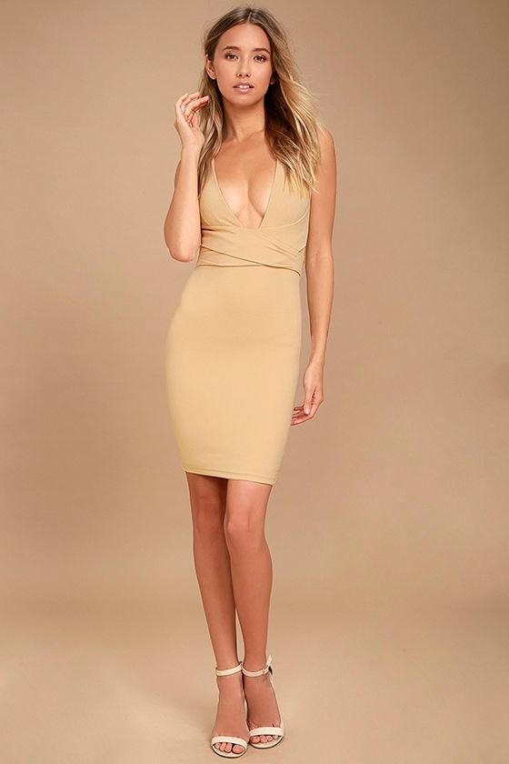Nude sexy dress