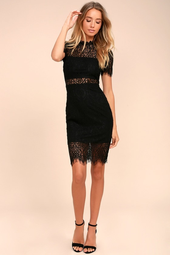 Remarkable Black Lace Dress