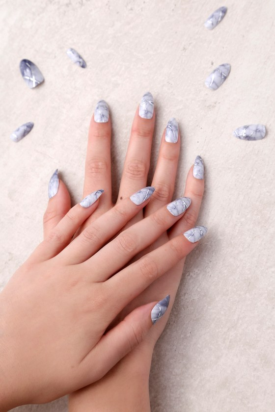Static Nails Hard As Stone - All In One Pop-On Manicure Kit