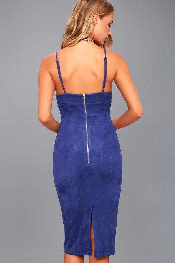 Royal blue midi bodycon dress subscription boxes ann
