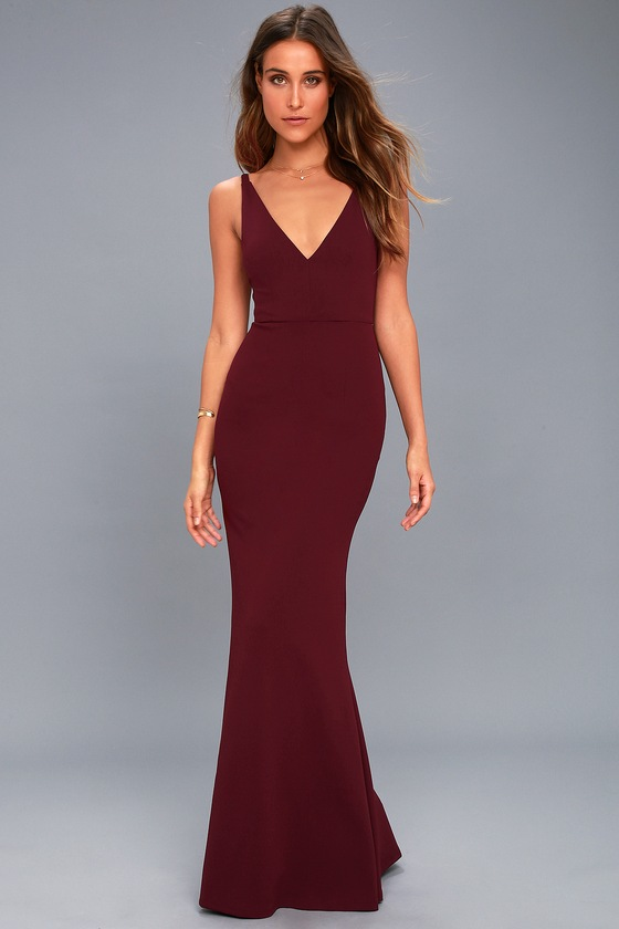 Plum Purple Dress Sleeveless Maxi Dress Mermaid Maxi