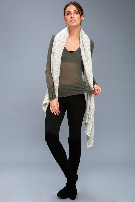 Freya Olive Green Long Sleeve Top