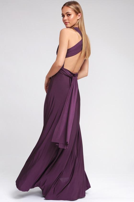 Pretty Purple Maxi Dress - Convertible Dress -Infinity Dress