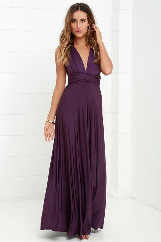 Pretty Purple Maxi Dress Convertible Dress Infinity Dress