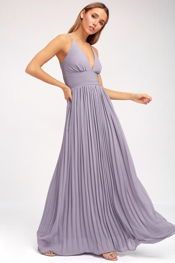 Light purple dress pleated maxi dress dusty purple gown depths of my love light purple maxi dress voltagebd Gallery