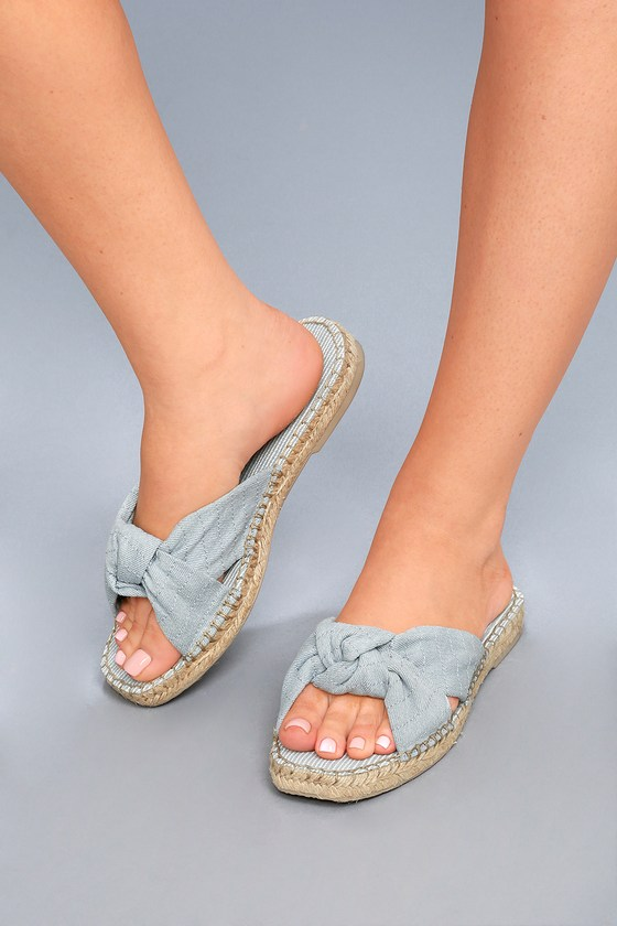 Lulus Benicia Light Espadrille Slide Sandal Heels - Lulus yA3HfhGhDY