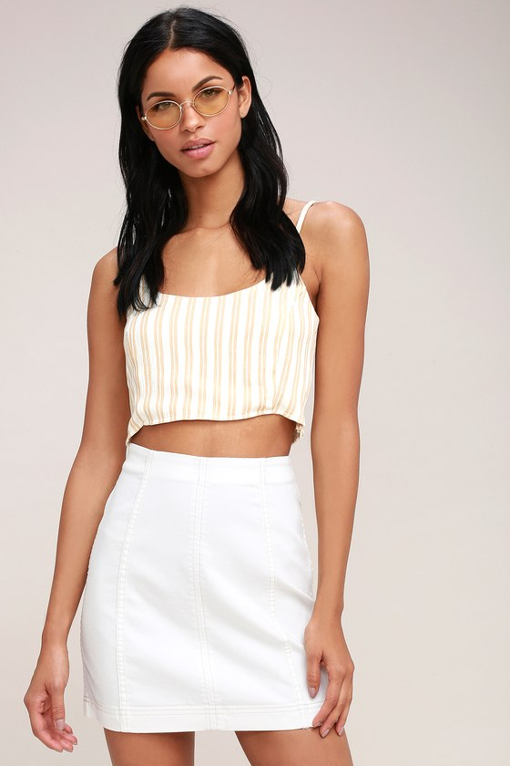 Modern Femme White Denim Mini Skirt