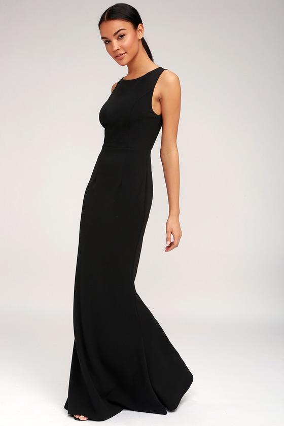 Chic Black Dress Maxi Dress Backless Dress