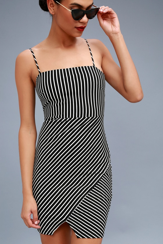 Black and white striped bodycon dress no background maurices clothes