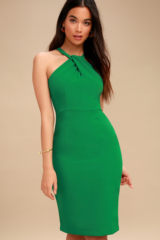 Sexy green cocktail dress