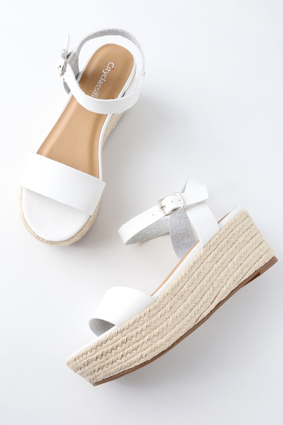 White flatform sandals authentic sale online clearance huge surprise pay with paypal cheap online free shipping pre order outlet reliable IevuUck9r
