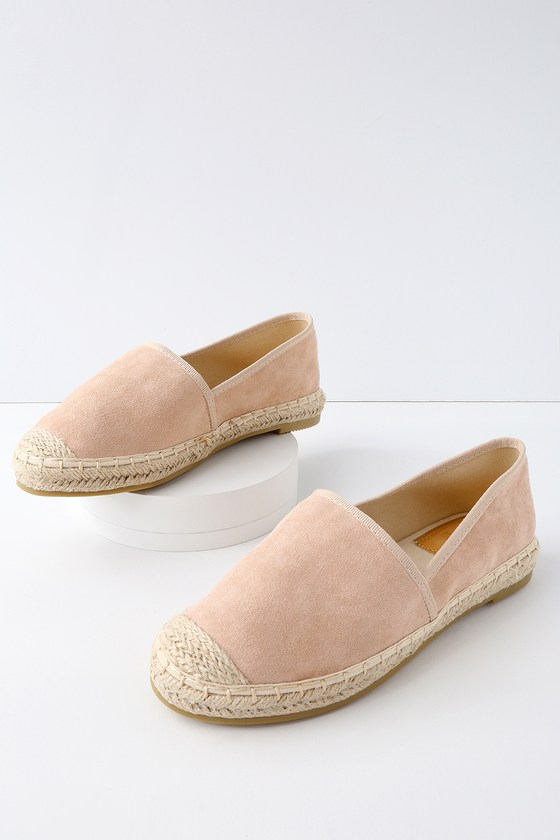 Fresco Suede and Leather Slip-On Flats