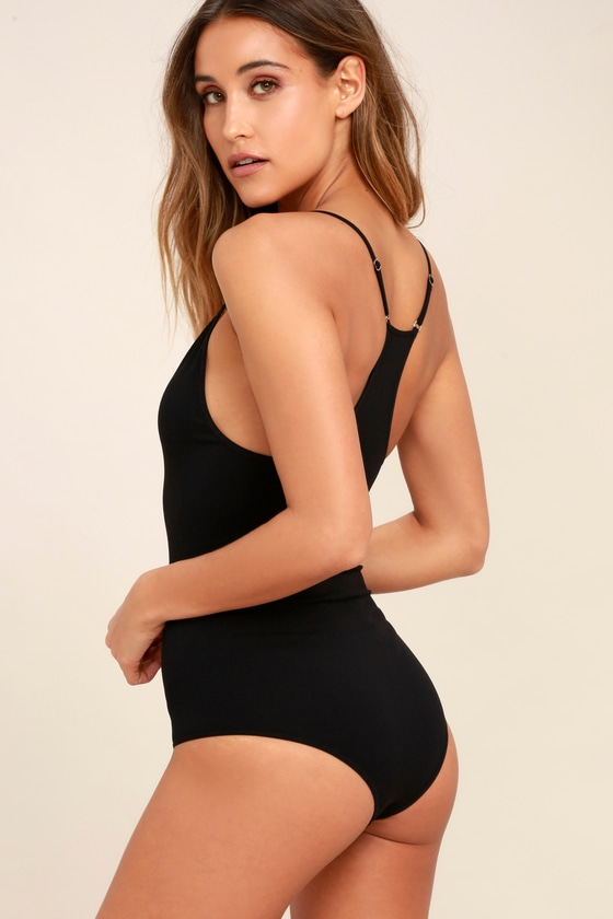 Move Along Black Bodysuit