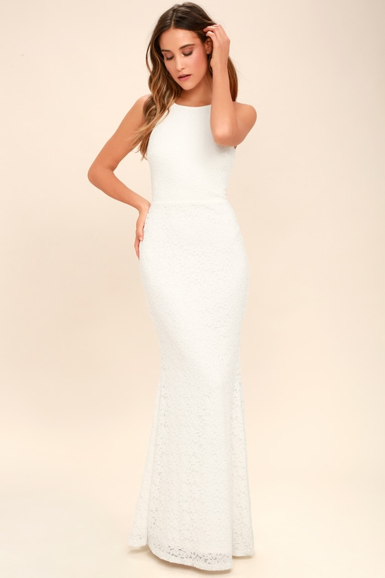 Lovely Ivory Dress - Lace Dress - Maxi Dress - $94.00