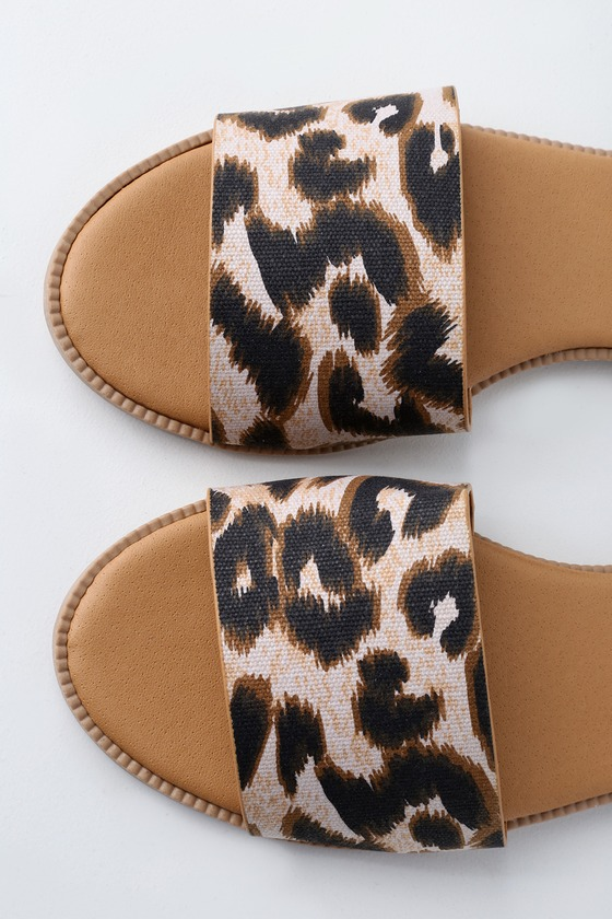 Cute Leopard Print Slides Leopard Print Slide Sandals