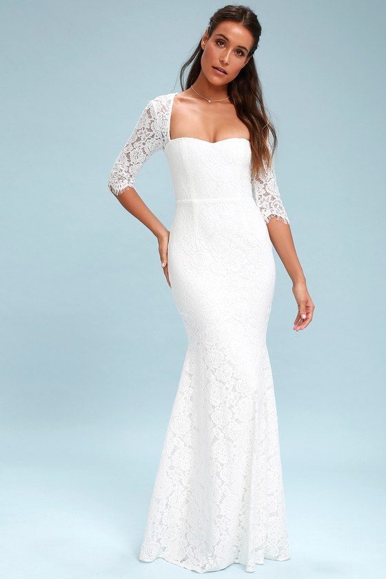 Gorgeous Lace Dress - Lace Maxi Dress - Bridal Dress