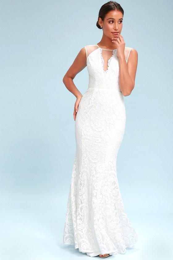 Lace Wedding Dresses & Gowns, White Bridal Dresses|Lulus
