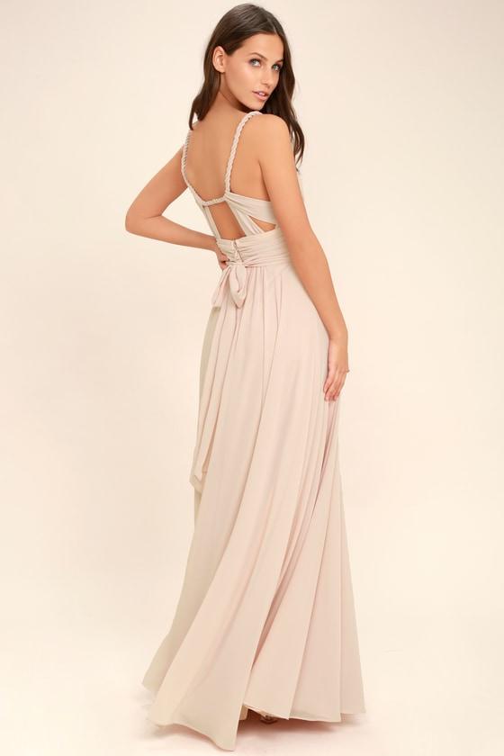 Lovely Blush Pink Dress - Maxi Dress - Gown - Bridesmaid Dress - $112.00