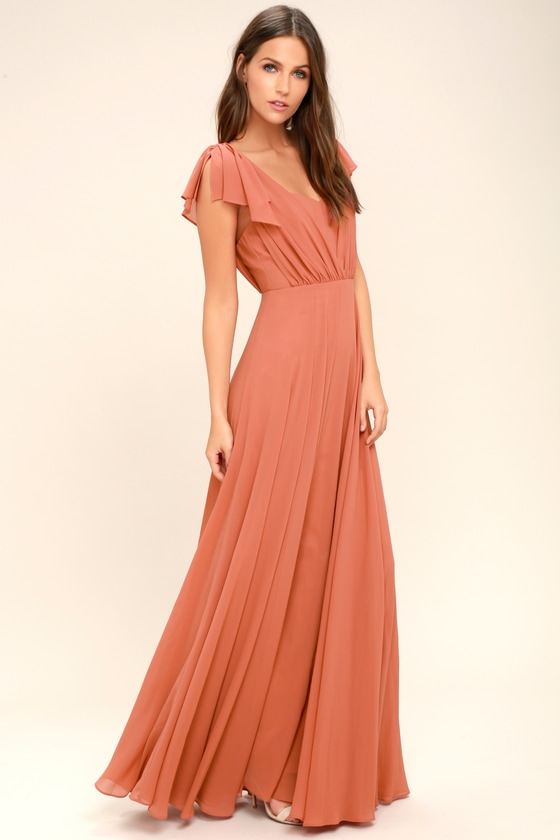 Stunning Rusty Rose Dress Maxi Dress Gown 89 00