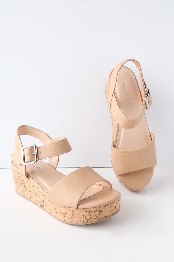 Grecia Sand Cork Wedge Sandals 2