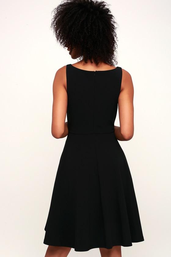 Fall For You Black Skater Dress 2
