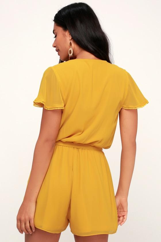 Sunshine State Of Mind Yellow Short Sleeve Romper 5