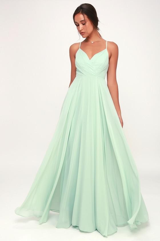 Lovely Mint Maxi Dress - Mint Maxi - Gown - Bridesmaid Dress