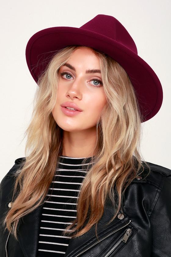 Wilinda Burgundy Felt Hat