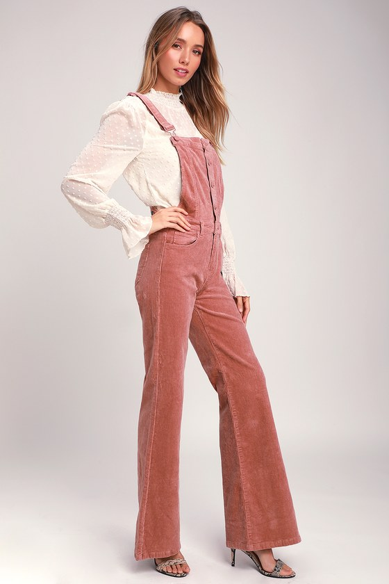 MISS THING DUSTY ROSE CORDUROY OVERALLS